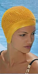 FASHY SWIM CAP SPIKY STYLE MODEL 3107 YELLOW - YELLOW