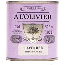 A L'Olivier Lavender Infused Olive Oil Tin, 150ml (5oz)