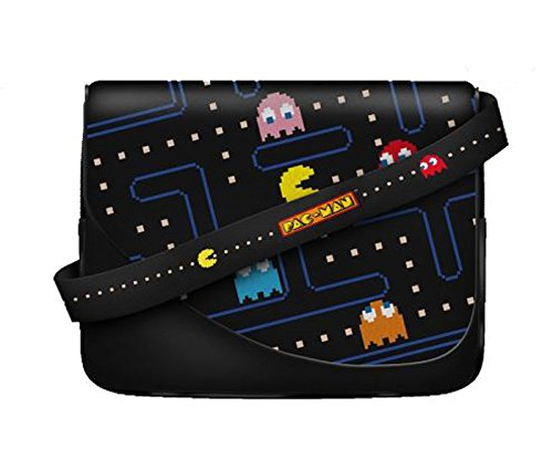 Pac-Man Official Licenced Messenger Bag MAZE version. Will fit up to 11in tablet/laptop. Velcro and zip fasteners