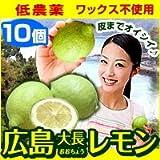 広島産 レモン(10個セット) 皮までおいしい 低農薬れもん ランキングお取り寄せ