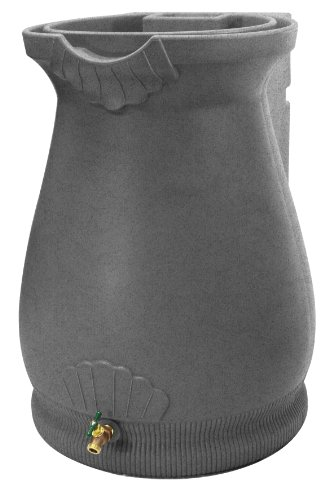 Good Ideas RWURN-LIG Rain Wizard Rain Barrel Urn 65-Gallon, Light Granite