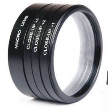 numex 52mm close up lens filter kit +1 +2 +4 +10 macro 4 nikon D3000 D3200 18-55MM D40  available at amazon for Rs.235