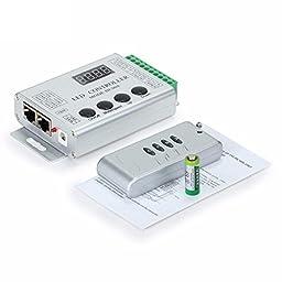 LED Everything (TM) DC 5V 12V WS2812 WS2811 WS2801 LPD6803 LPD8806 LED Strip HC008 133 4 Button RF controller