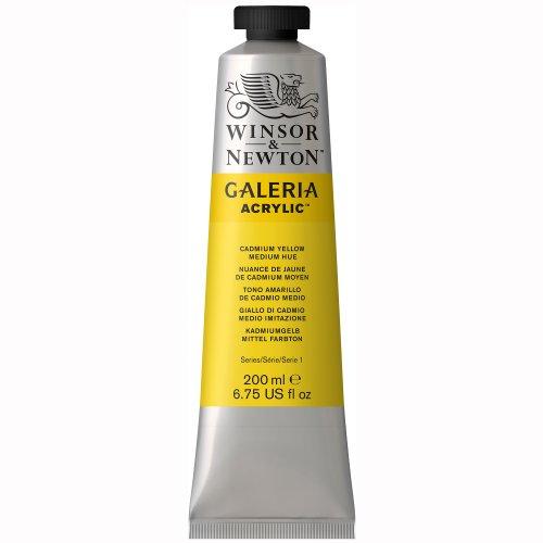 Winsor & Newton Galeria Acrylics - Cadmium Yellow Medium Hue - 200ml Tube (Cadmium Yellow Oil Paint compare prices)