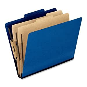 Pendaflex Colour Pressguard Classification Folders, Letter Size, Blue, 10 per Box (1257BL)