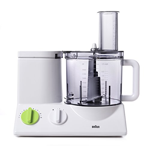 Braun FP3020 12 Cup Food Processor Ultra Quiet Powerful motor, includes 7 Attachment Blades + Chopper and Citrus Juicer , Made in Europe with German Engineering (Food Processor Cooks compare prices)