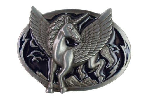 Hogar Mens Zinic Alloy Western Belt Buckle Unicorn Buckles Color Blue