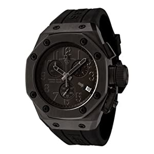 Mens Trimix Diver Chronograph Black Dial Black Rubber