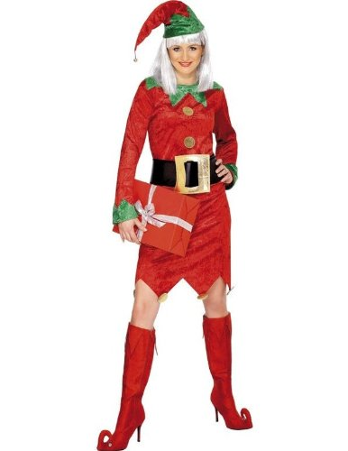 Adult Female Elf Fancy Dress Costume