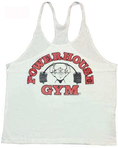 PH301 Powerhouse Gym Mens Tank Top (M, White)