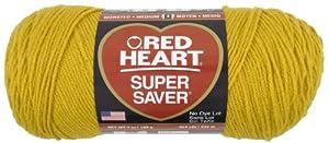 Red Heart E300.0321 Super Saver Economy Yarn, Gold