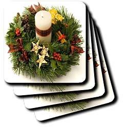Advent Wreath - Set Of 4 Ceramic Tile Coasters