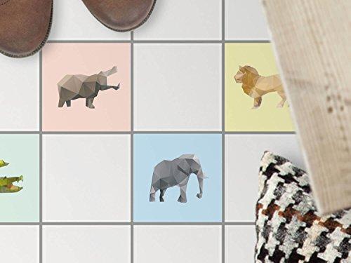 art-de-tuiles-sol-carrelage-adhesif-decoratif-au-sol-renovation-salle-de-bains-motif-origami-animaux