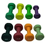 Neoprene dumbbells set (sold in set o...