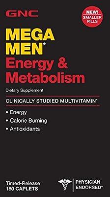 GNC Mega Men Energy & Metabolism - 90 & 180 Capsules Bottles