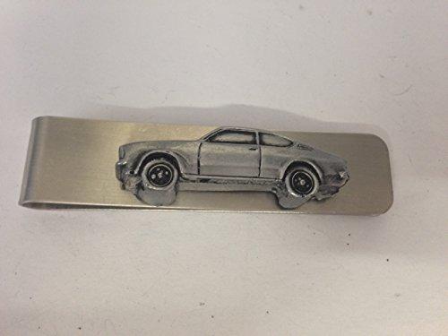 Edelstahl Geldklammer/Geldscheinklammer + a Opel Kadett 3D emblem ref172, Zinn-Optik