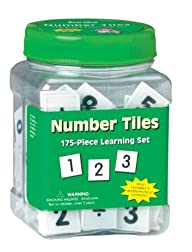 Eureka Tub Of Number Tiles, 175 Tiles…