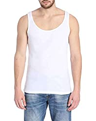 Jack & Jones Men's 95% Cotton 5% Elastan Vest (5712838652188_White_XX-Large)