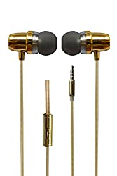 Hello Zone Fragranced and Scented Headset Handsfree Headphone Earphone with Mic 3.5 MM Jack for Oneplus 3 One Plus 3 -Gold
