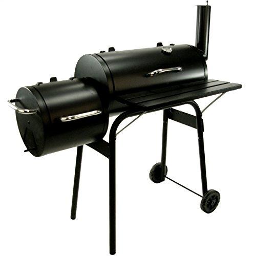 BBQ Grill Smoker Grillwagen Holzkohlegrill mit 2 Kammern