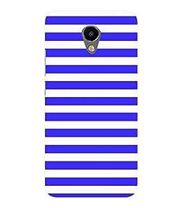Blue Line Pattern Cute Fashion 3D Hard Polycarbonate Designer Back Case Cover for Meizu M2 Note
