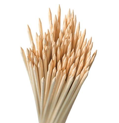 Bâtons de guimauve à rôtir en bambou, 91,4cm (91cm) Long, extra épais brochettes en bois ultra résistante. Parfait pour rôtir guimauves, Hot Dog, brochettes, saucisses. Eco et respectueux, 100% Biodégradable. 110pièces par pack.
