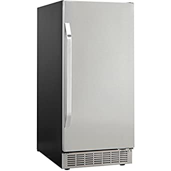Danby Countertop Ice Maker Stainless Steel : ... Under Counter Ice Maker with Door, Black/Stainless Steel: Appliances