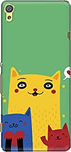 The Racoon Lean Happy Cats hard plastic printed back case/cover for Sony Xperia XA