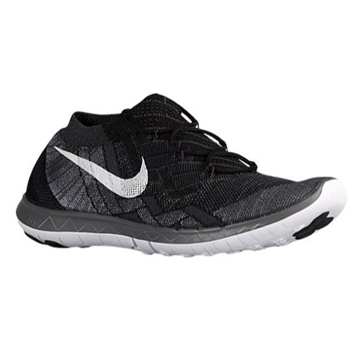 Nike Mens Free 3.0 Flyknit Running Shoes Black/Anthracite/White 718418-001 Size 13