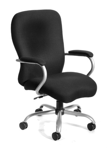 Boss Office Products B990 Heavy Duty Microfiber Chair with 350 lbs weight Capacity in Black
