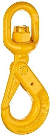 """Gunnebo-Johnson BKL-5/6-82 7/32"""" Swivel Bronze Bushing Self-Locking Hook"""