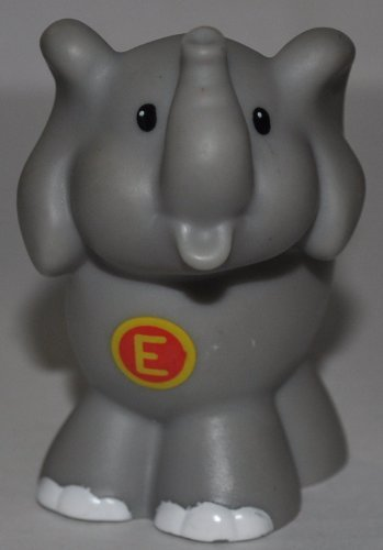 "Little People Elephant ""E"" on Chest (2004) - Replacement Figure Accessory - Classic Fisher Price Collectible Figures - Loose Out Of Package & Print (OOP) - Zoo Circus Ark Pet Castle - 1"