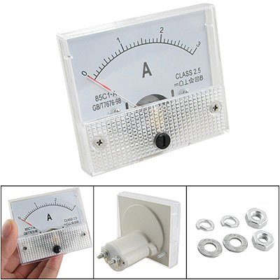 Sale!! 85C1 DC 0-3A Rectangle Analog Panel Ammeter Gauge