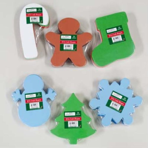 Christmas Craft Foam Shapes - Case Pack 36 SKU-PAS786761