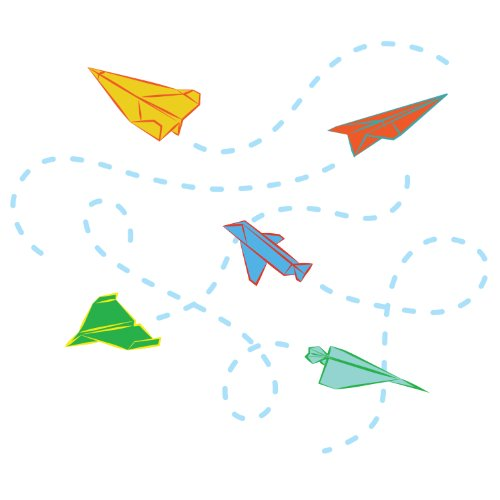 WallCandy Arts Wall Sticker, Paper Airplanes - 1