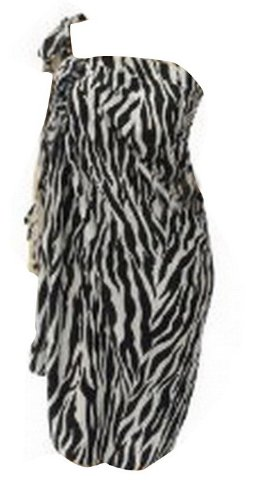 La Leela Black And White Animal Print Sarong