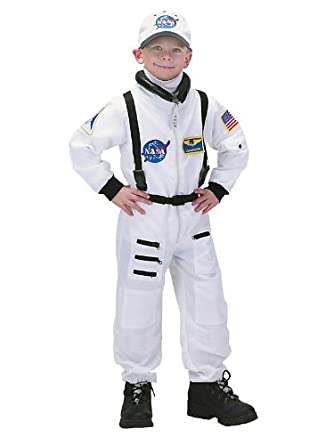 Low Price Deluxe White Nasa Junior Astronaut Suit Boys Costume