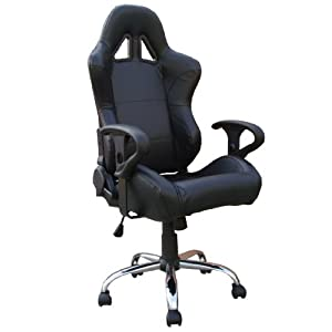 computer swivel chair uk uk wholesale black leather racing bucket