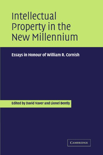 Propriété intellectuelle en ce nouveau millénaire : Essays in Honour of William R. Cornish
