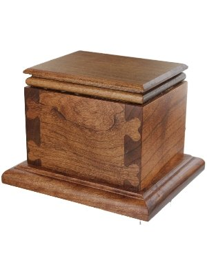 Handcrafted Pet Creamation Urn Solid Cherry Hardwood with Heart Jointery