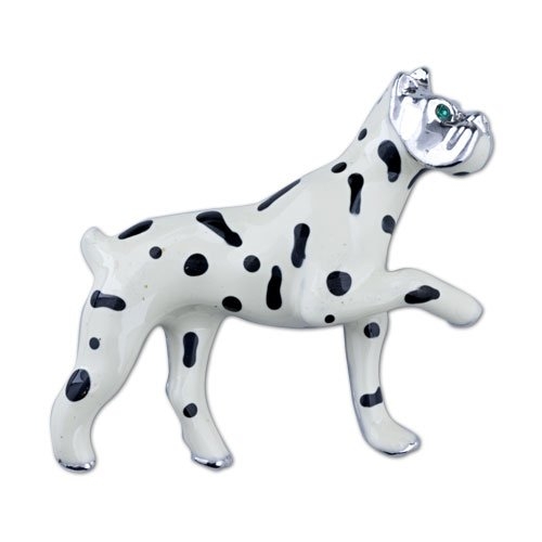 Pugster White Spotted Dog Brooches And Pins