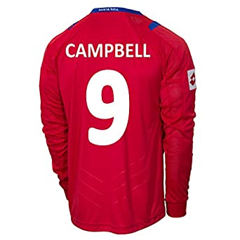Buy Lotto CAMPBELL #9 Costa Rica Home Jersey World Cup 2014 (Long Sleeve) by Lotto