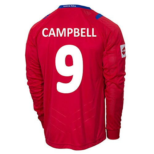 Lotto CAMPBELL #9 Costa Rica Home Jersey World Cup 2014