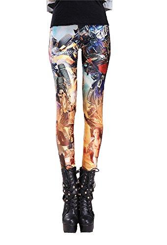High Quality Transformers Women Girls Leggings Digital Print Stretchy Tight Pants New