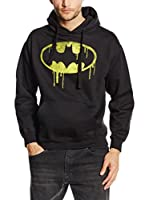 DC Comics Sudadera Batman Dripping Logo (Negro)