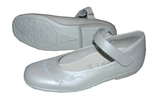 Helgas Modewelt, Scarpe col tacco bambine, (perlato weiß), mittel 36