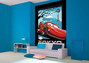 Disney pixar cars disney cars wallpaper car interior design for Disney pixar cars mural wallpaper