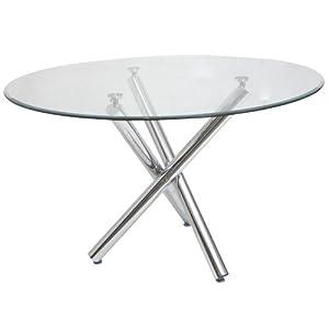 table ronde en verre 6 places cuisine maison. Black Bedroom Furniture Sets. Home Design Ideas