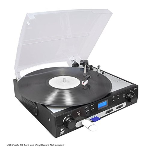 PYLE PLTTB9U USB Turntable with direct-to-digital USB/SD Card Encoder and Built-in AM/FM Radio Conversion (Pyle Turntable Needles compare prices)