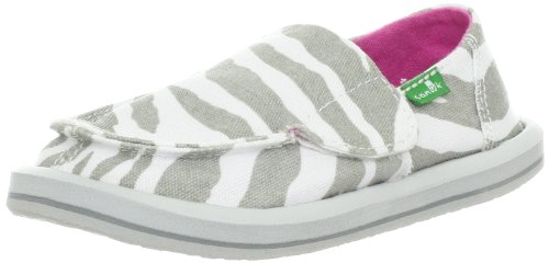 Toddler Girl's Sanuk 'I'm Game' Slip-On Zebra Grey 11 M